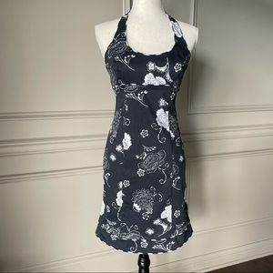Citrine Floral Halter Dress
